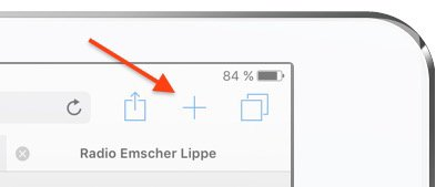 iPad HandOff Tab Neue Registerkarte Öffnen Plus-Zeichen Safari Apple beenden schließen speichern 1