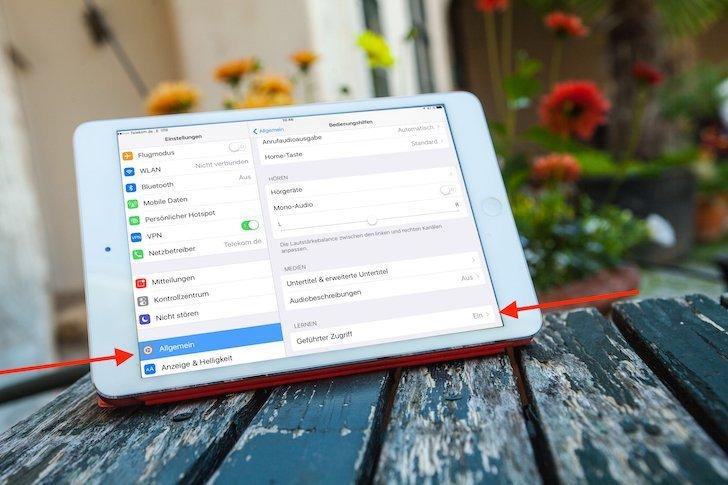 iPad iOS Kinder beschränken geführter Zugriff einschränken eine App sperren zulassen Kind Junge Mädchen freigeben 4