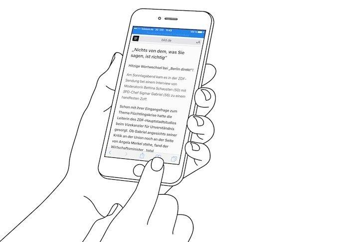 iPhone Reader-Ansicht PDF konvertieren speichern iBooks exportieren 2