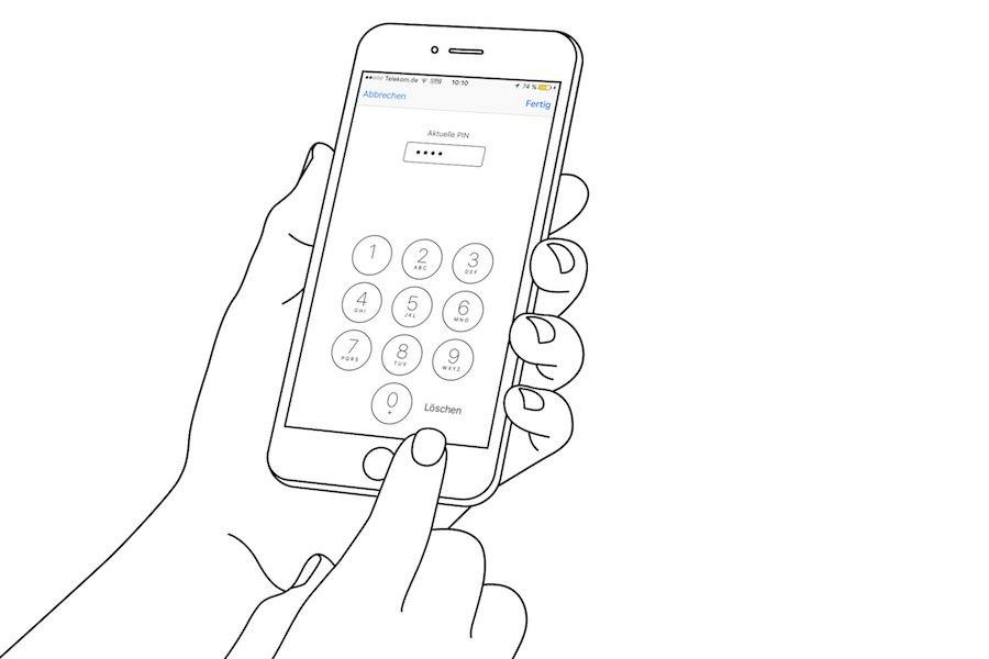 iPhone SIM PIN ändern Sicherheit Persönliche Identifikationsnummer SIM-PIN vergeben speichern Schutz 2
