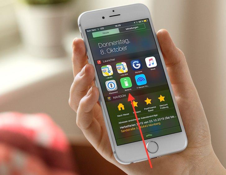 iPhone iOS9 Apple Stromsparmodus Energiesparmodus Batterie Laufzeit länger sparen Strom Energie verlängern Akku 2