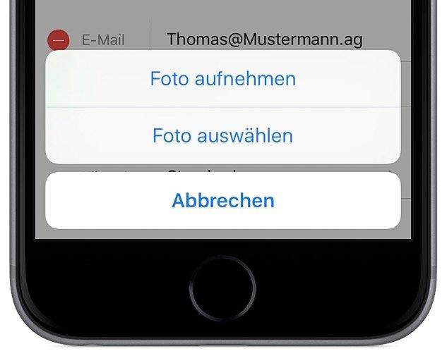 iPhone iOS9 Kontakt Foto Kontaktbild Bild anzeigen bearbeiten inzufügen Anruf 2