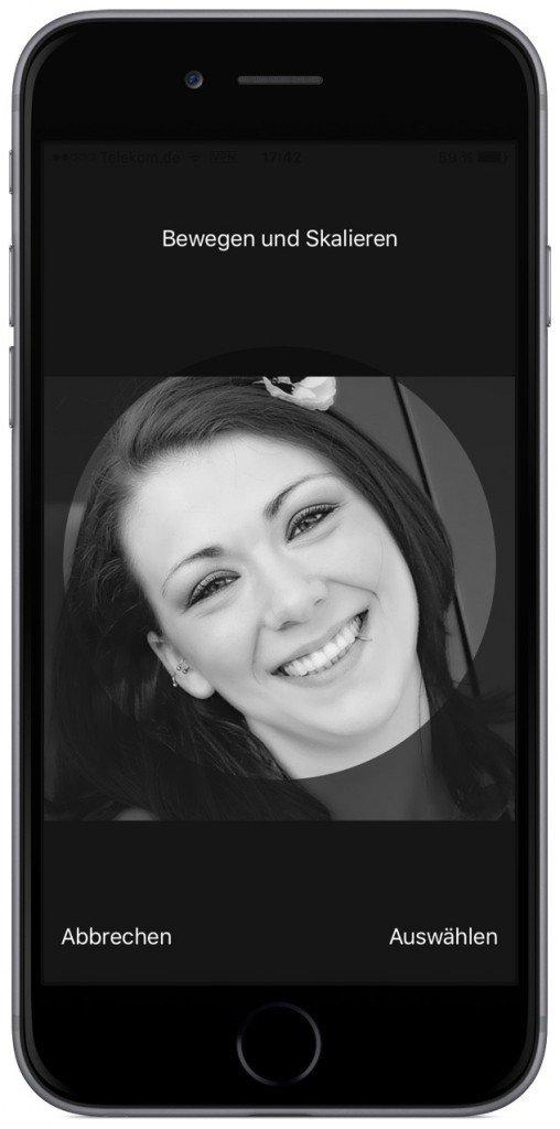 iPhone iOS9 Kontakt Foto Kontaktbild Bild anzeigen bearbeiten inzufügen Anruf 4c