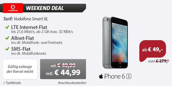 Angebot 1 iPhone 6s