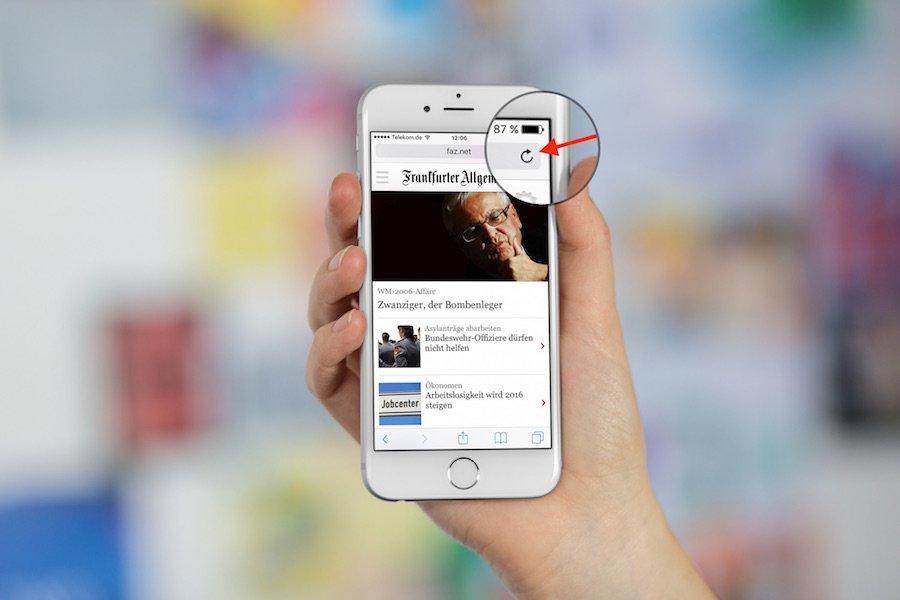 Safari auf iPhone mit iOS9 Von mobiler Ansicht zur Destop-Ansicht wechseln 1
