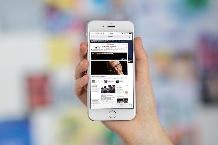 Safari auf iPhone mit iOS9 Von mobiler Ansicht zur Destop-Ansicht wechseln 3