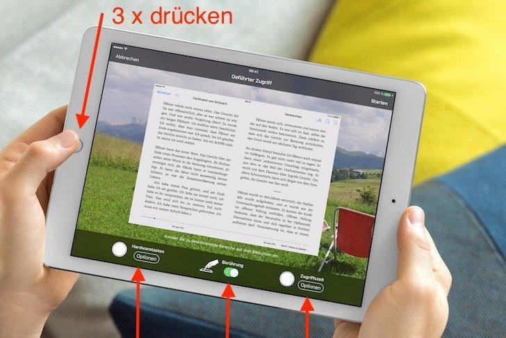iPad Präsentation App Keynote Numbers Pages iBooks freigeben sperren Dritte überlassen 2