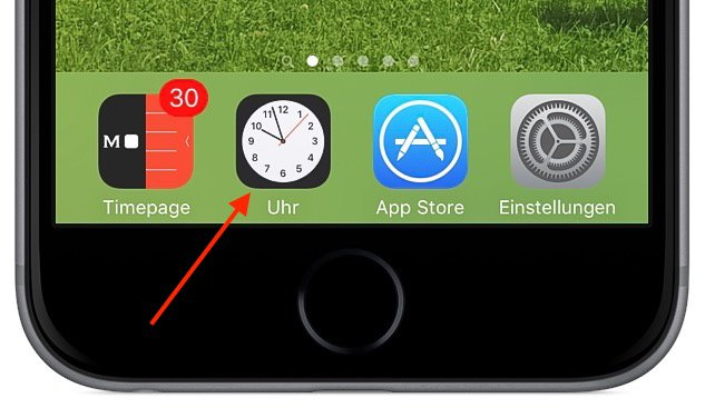 iPhone 6s plus Uhr Wecker stellen 3D Touch Force 1