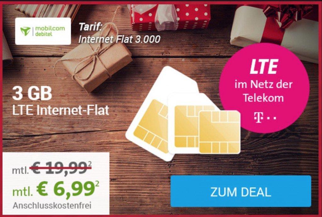 3 GB LTE im Telekom-Netz für 6,99 EUR Monat