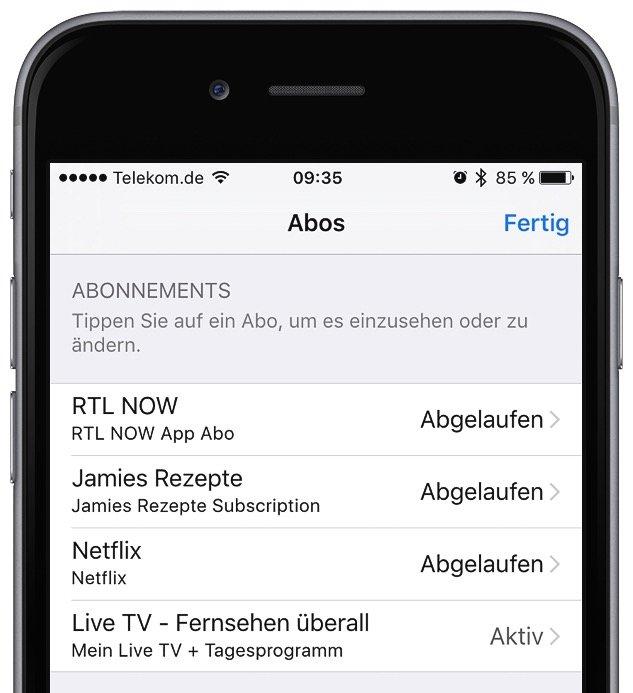 In App-Kauf bei iTunes Abo kündigen 5