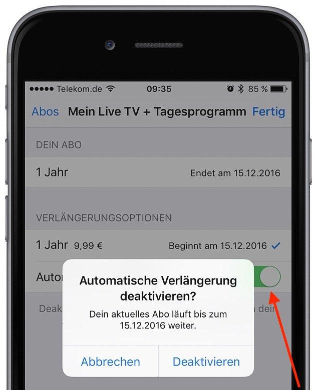 In App-Kauf bei iTunes Abo kündigen 6