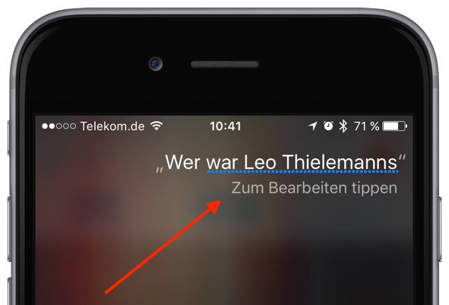 Siri korrigieren am iPhone Spracherkennung 2
