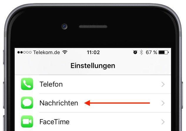 iMessage SMS iPhone Lesebestätigung deaktivieren 1
