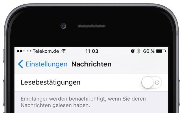 iMessage SMS iPhone Lesebestätigung deaktivieren 2