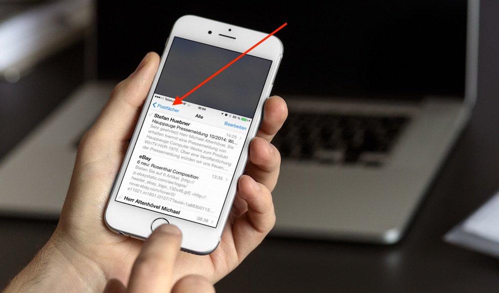 iPhone 6 mit einer Hand bedienen 2
