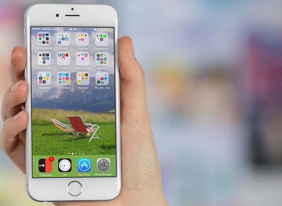 iPhone App organisieren Homescreen löschen anordnen sortieren 2