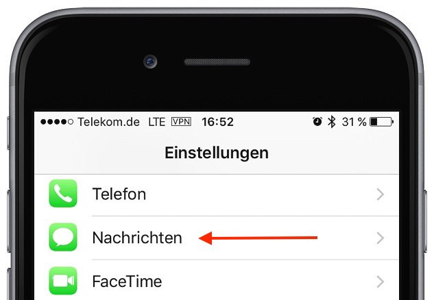 iPhone iMessage abmelden Problem SMS-Empfang 1