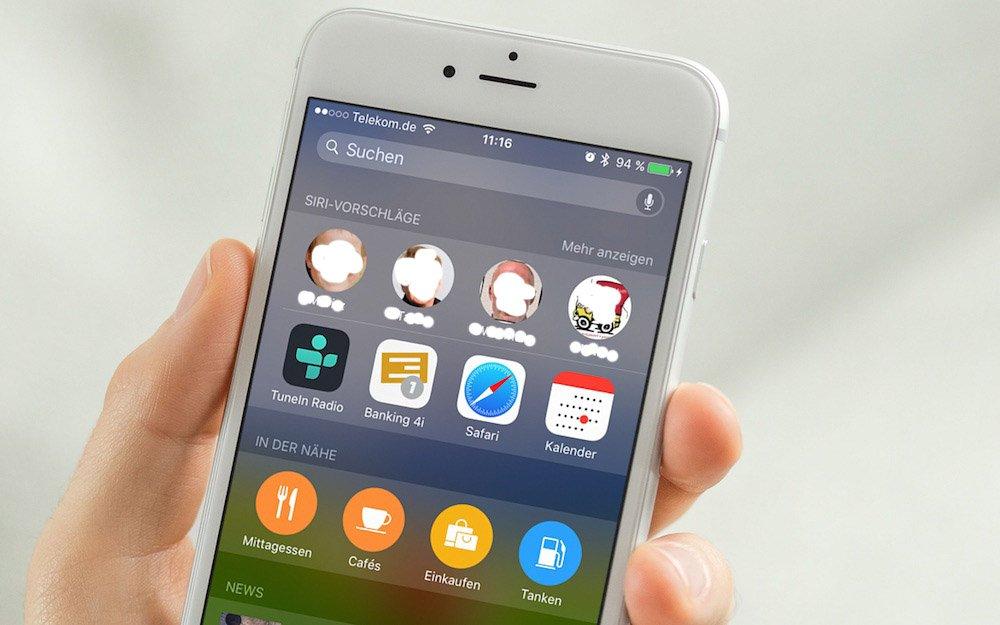 iPhone + iOS 9 Verlauf der letzten Kontakte weg 2