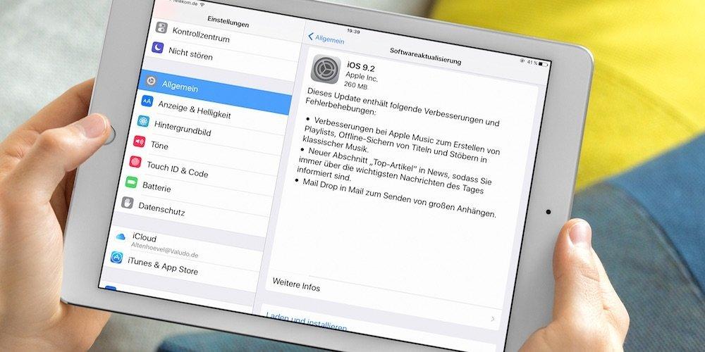 iPhone und iPad Update auf iOS 9