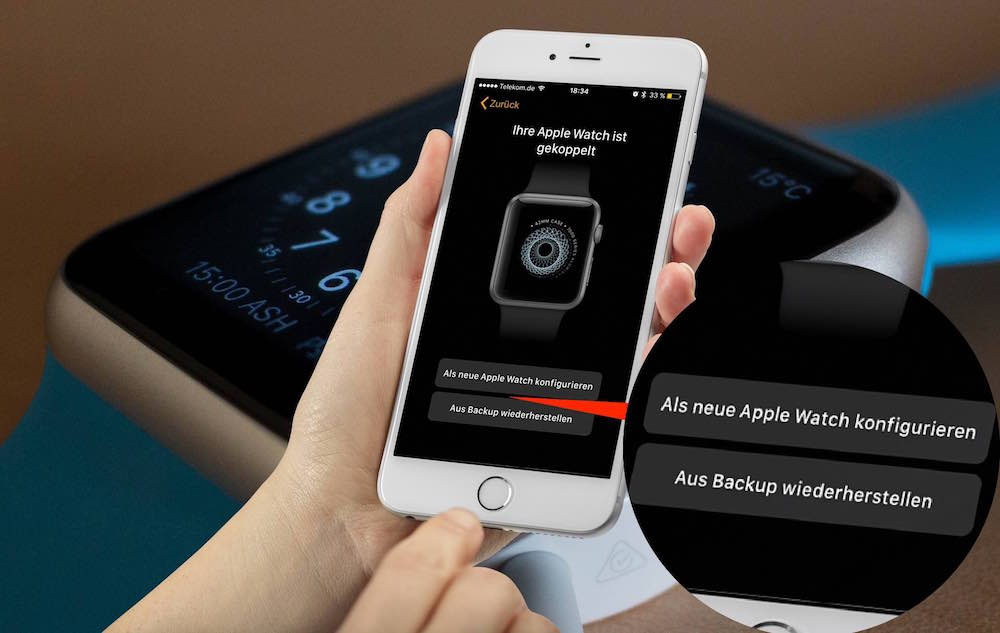Apple Watch Backup erstellen