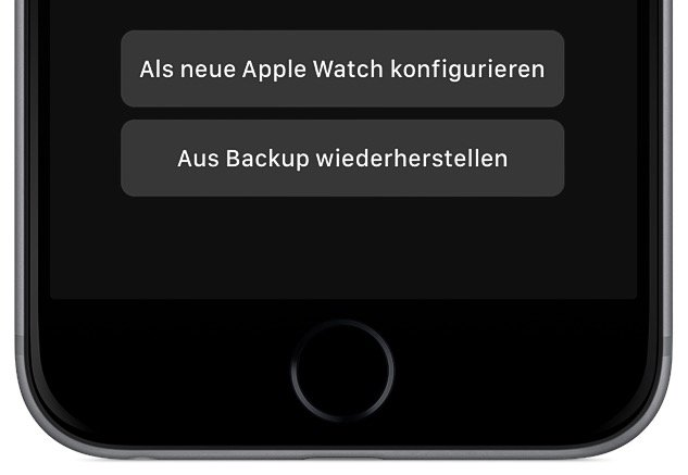 Apple Watch aus Backup wiederherstellen 3