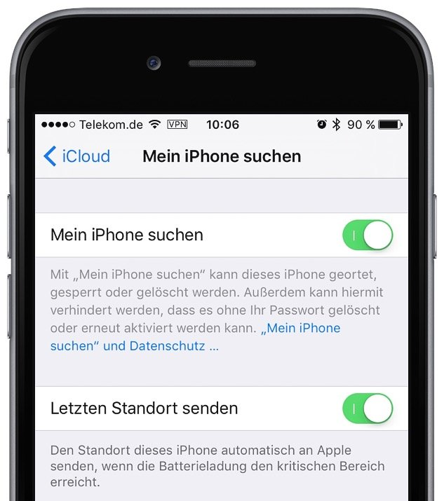 iphone 5 orten mit android