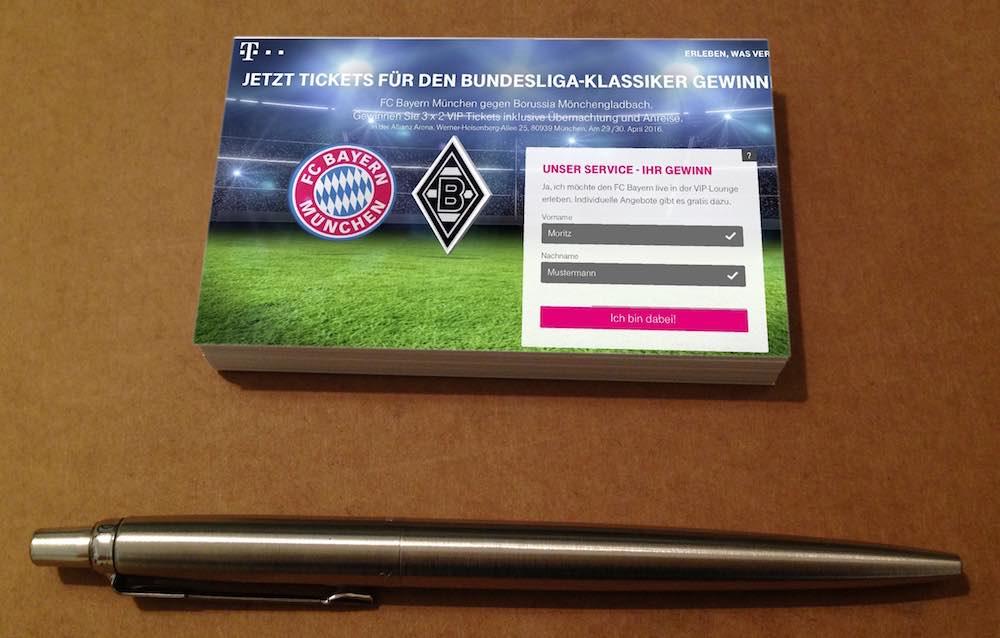 Telekom Gewinnspiel VIP Tickets Übernachtung Anreise Bayern Borussia Mönchengladbach gewinnen 1