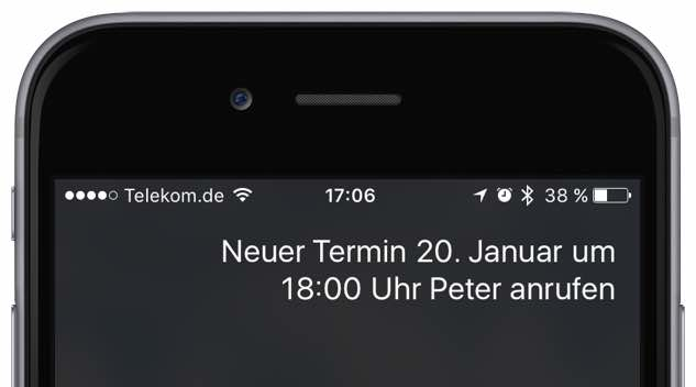 iPhone Neuen Termin speichern 2