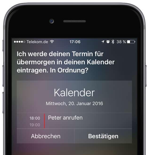 iPhone Neuen Termin speichern 3