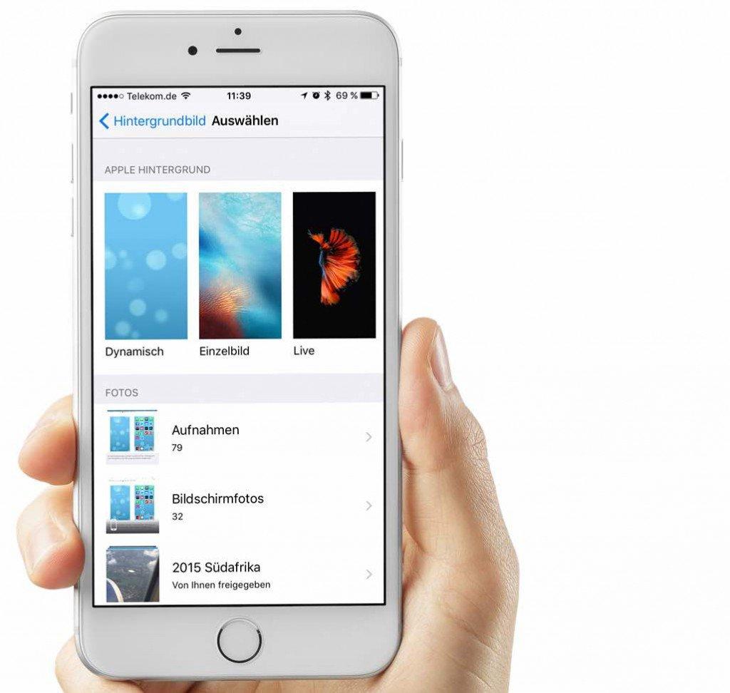 iPhone Strom sparen beim dynamischen Hintergrund
