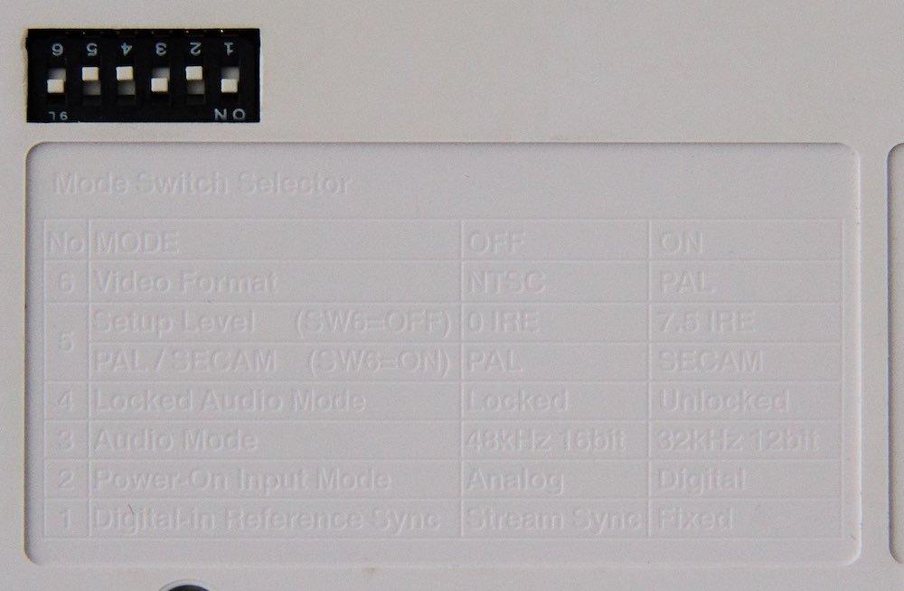 Canopus Einstellungen DIP-Schalter