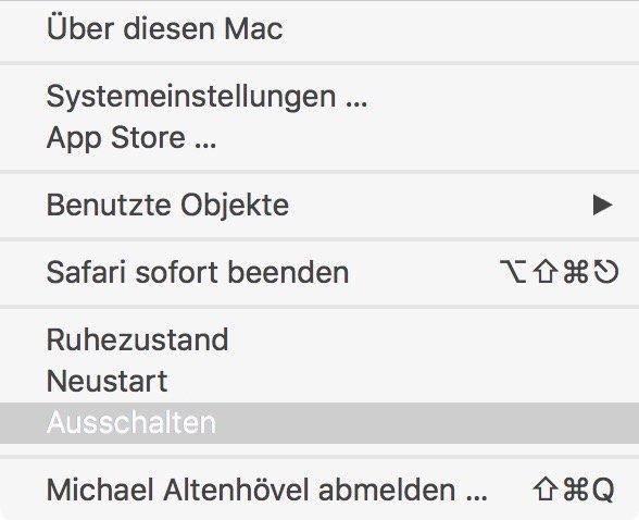 Möchten Sie den Computer jetzt ausschalten Mac umgehen 2