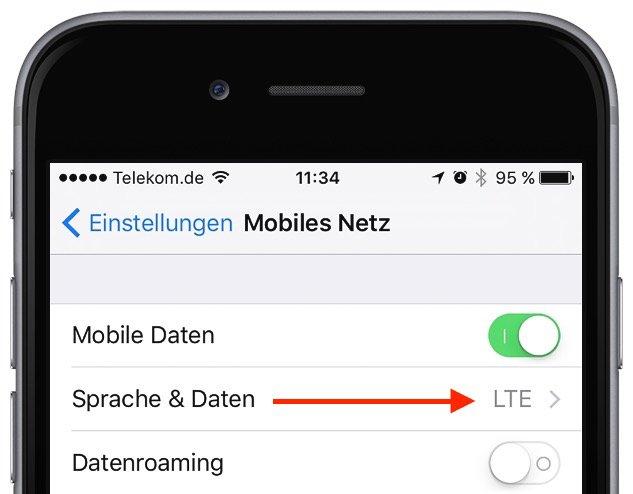 Strom sparen iPhone 3G 4G Edge LTE Netz