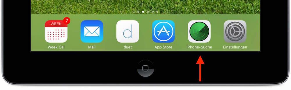 Verlegtes iPhone wiederfinden 1
