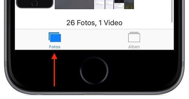 iPhone Mehrere Fotos gleichzeitig markieren löschen 1