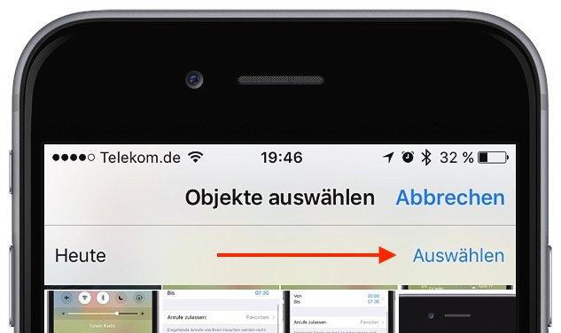iPhone Mehrere Fotos gleichzeitig markieren löschen 2