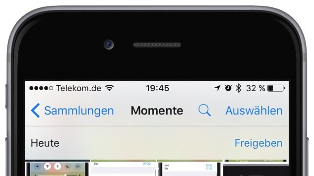 iPhone Mehrere Fotos gleichzeitig markieren löschen 3