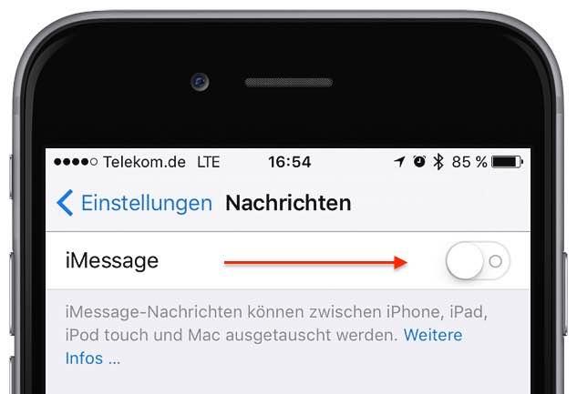 iPhone-Nachricht als SMS senden 1