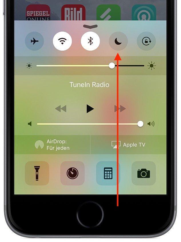 iPhone Nicht stören Flugmodus einrichten 2
