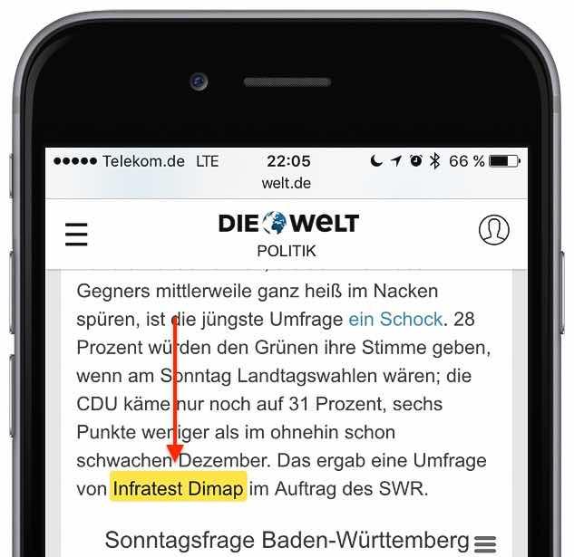 iPhone Safari Wort Zeichenkette suchen 3