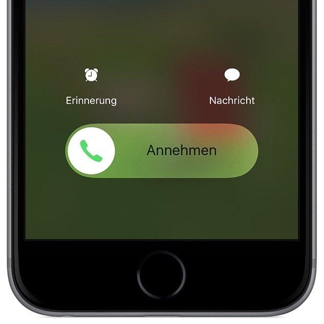 iPhone Telefon Anruf Ablehnen Knopf Button fehlt 1