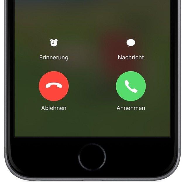 iPhone Telefon Anruf Ablehnen Knopf Button fehlt 2