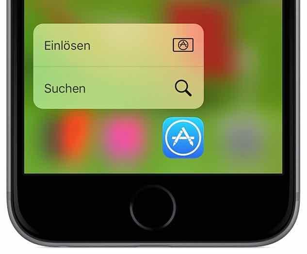 iTunes Karte Guthaben 3D Touch einlösen gutschreiben 1