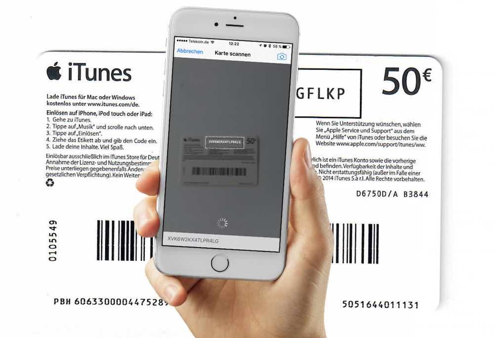 Itunes Karte Einlösen.Itunes Guthaben Mit 3d Touch Und Kamera Einlösen Mobil Ganz Einfach De