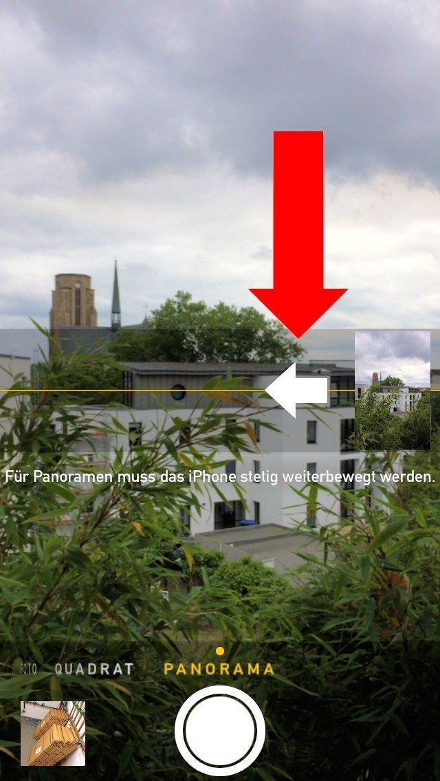 panorama foto aufnahmerichtung ndern mobil ganz. Black Bedroom Furniture Sets. Home Design Ideas