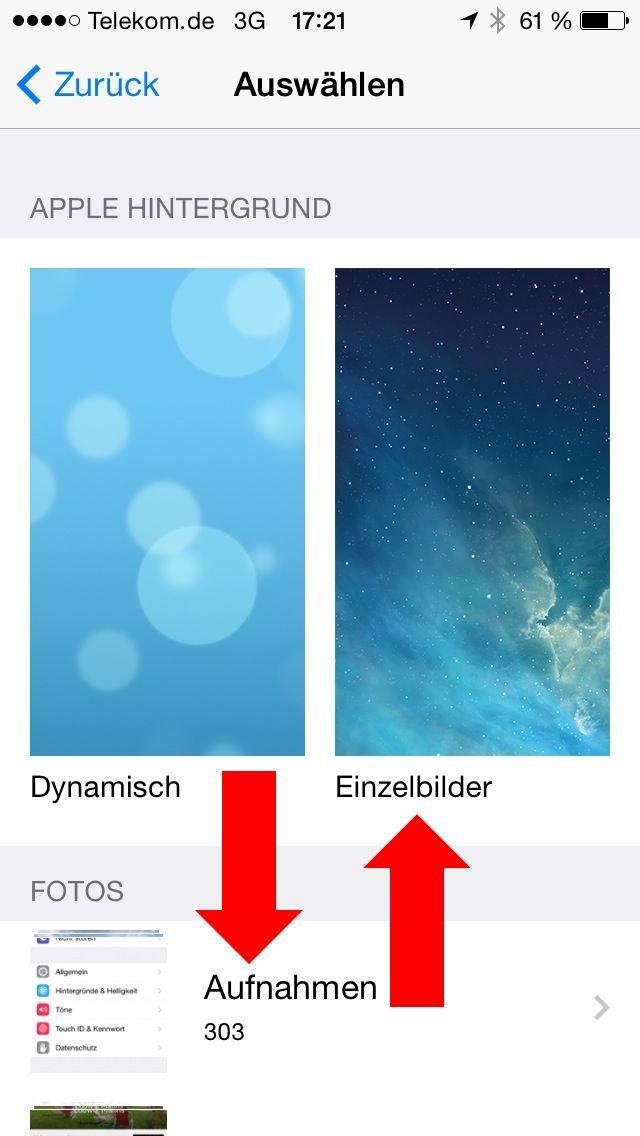 iPhone iPad Strom sparen Hintergrund Helligkeit 2