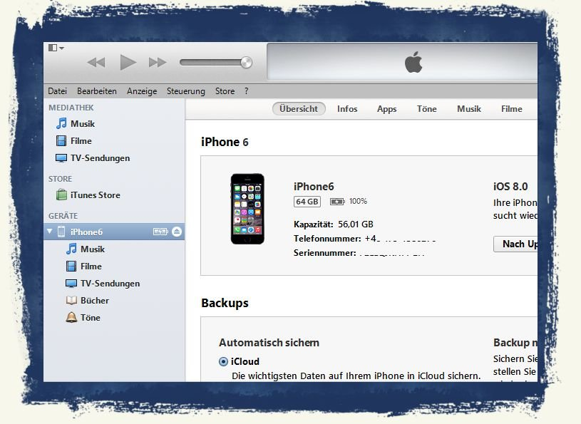 itunes for iphone 6 iphone 6 itunes installieren und backup des quot altger 228 ts 2185