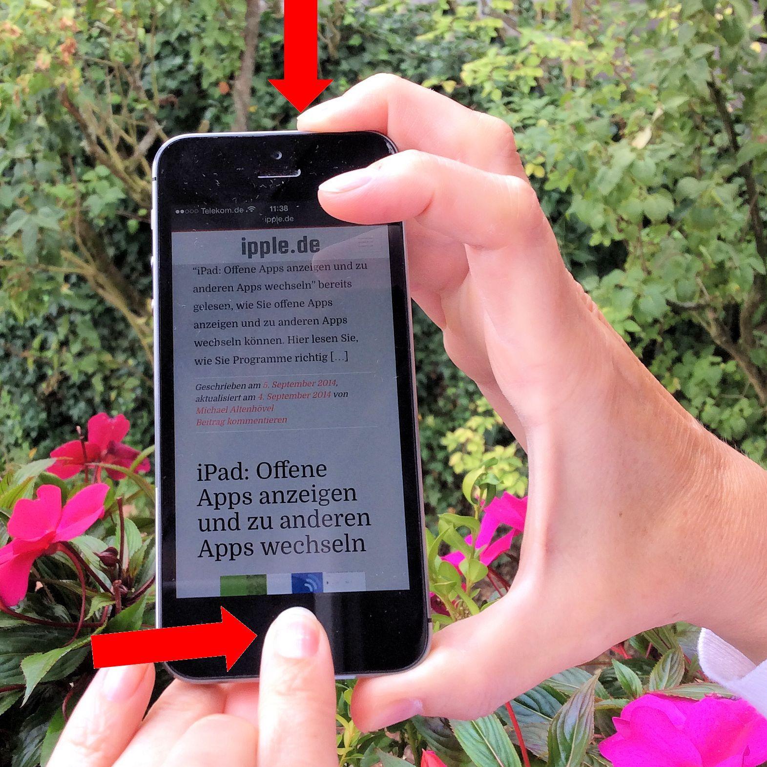 iPhone abgestürzt aufgehängt Hard Reset Bildschirm dunkel Apple Logo Apfel Handgriff
