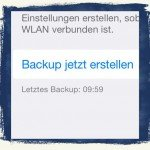 iPad,Backup,Datensicherung,Restore,Datum,letzts Backup BB
