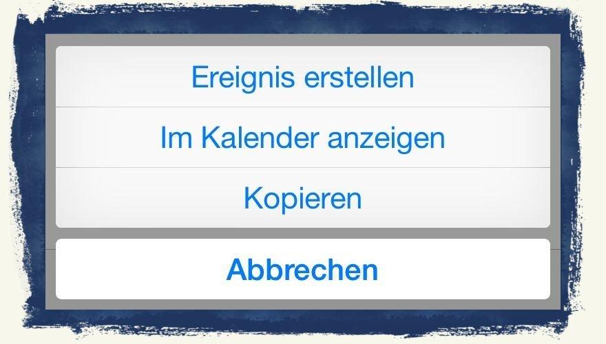iPhone6,Termin,Kalender,Mail,übernehmen,eintragen BB